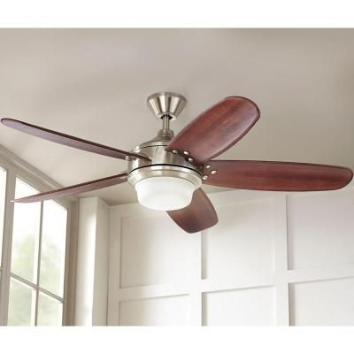 Home Decorators Collection Breezemore 56 In. Indoor Brushed Nickel