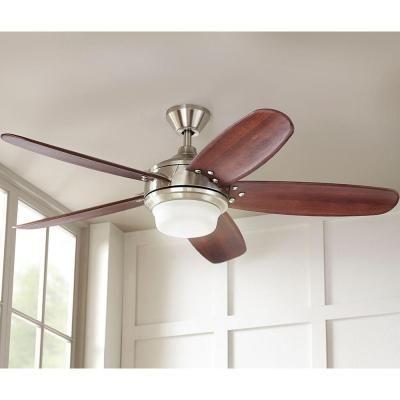 Home decorators collection breezemore 56 in indoor brushed nickel ceiling fan 51558 the