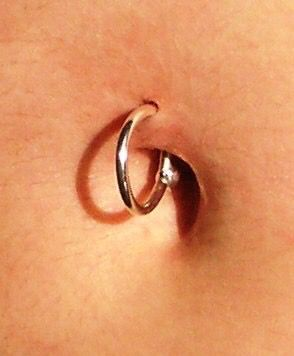 Belly Hoop Ring Piercing 90s Body Body In 2019 Belly Button