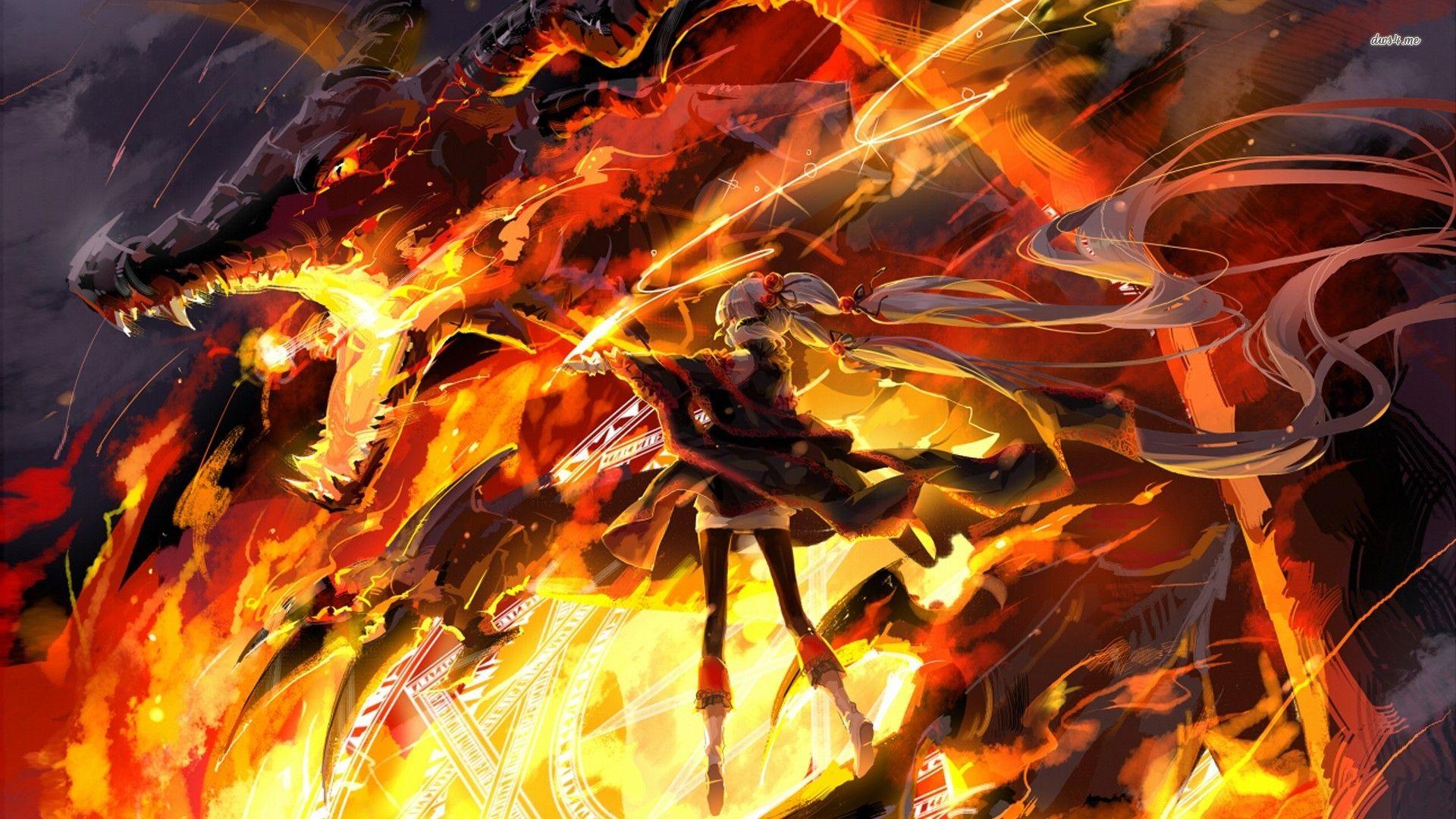 Dragons Fighting Wallpaper