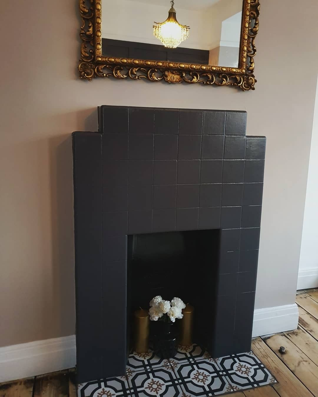 Art Deco Fireplace Makeover Art Deco Fireplace Fireplace