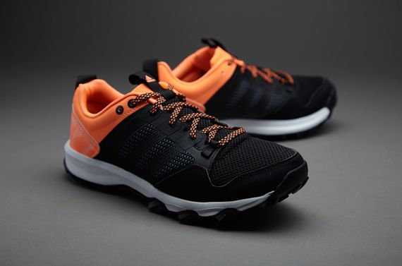 Womens Shoes adidas Running Kanadia TR 7 Black/Black/Flash Orange