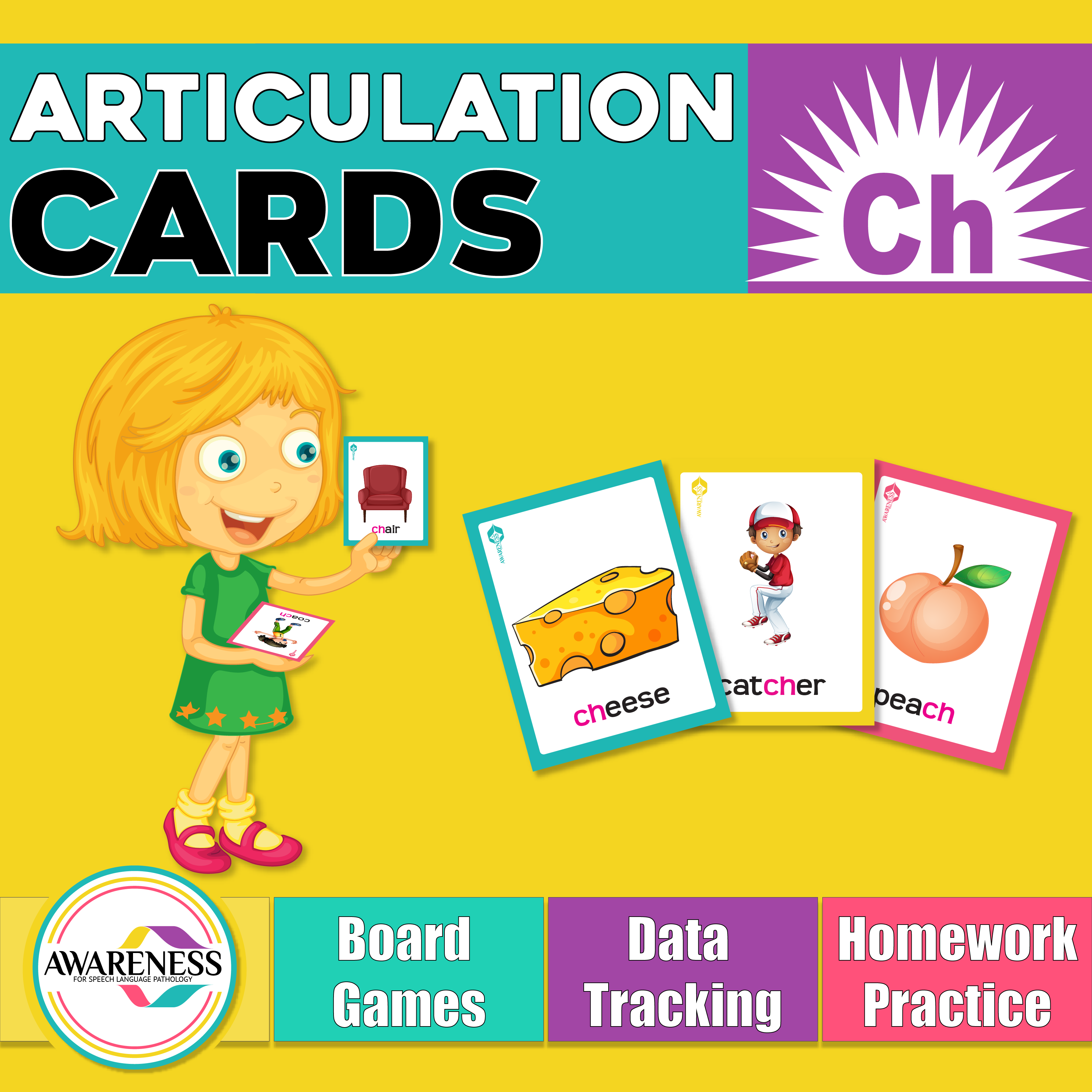 Ch Articulation Cards Worksheets And Activities For