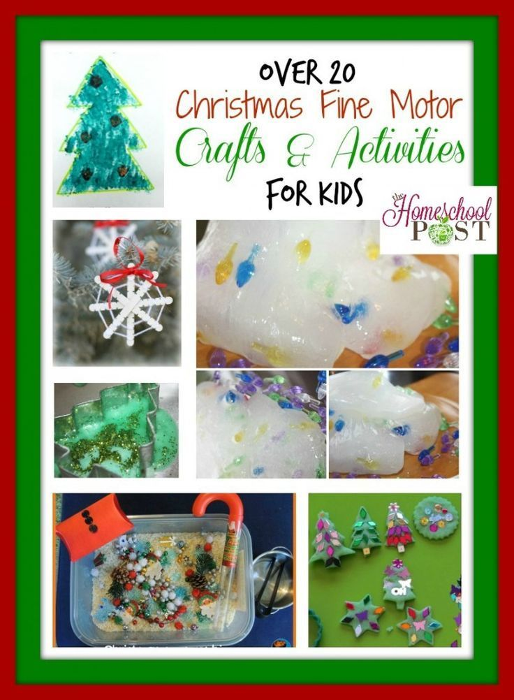 Christmas Fine Motor Crafts And Sensory Play Activities