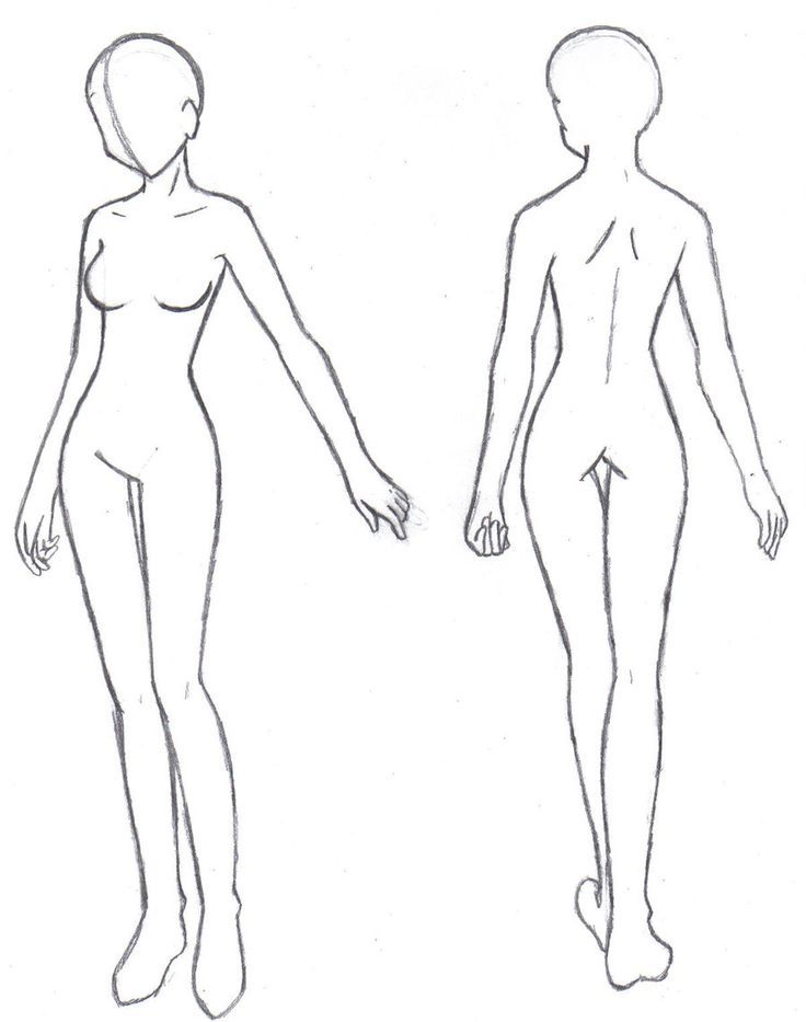 Body Template Anime