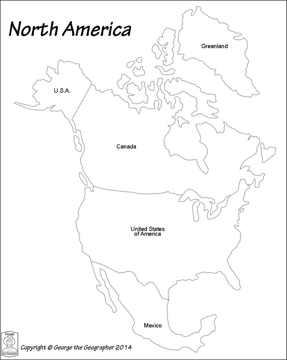 North America Map Outline Pdf Maps Of Usa For A Blank 7 ...