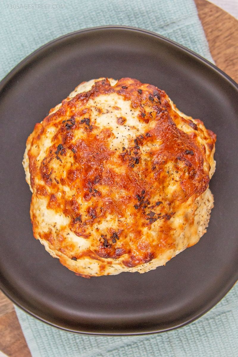Amazing Parmesan whole roasted cauliflower recipe.
