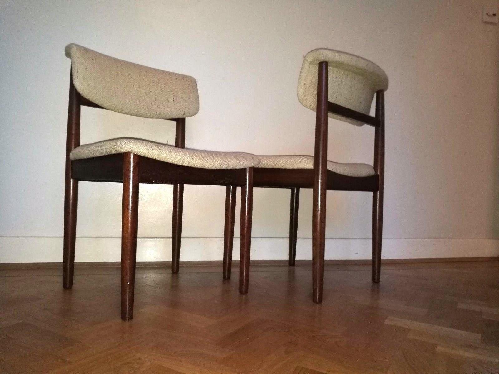 vintage vamdrup stolefabrik dining chairs mid century danish