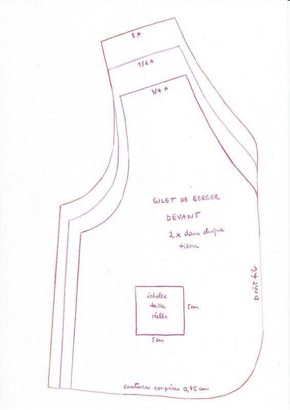 Patron chaleco niña - Imagui | costuras varias | Costura, Patrones y ...