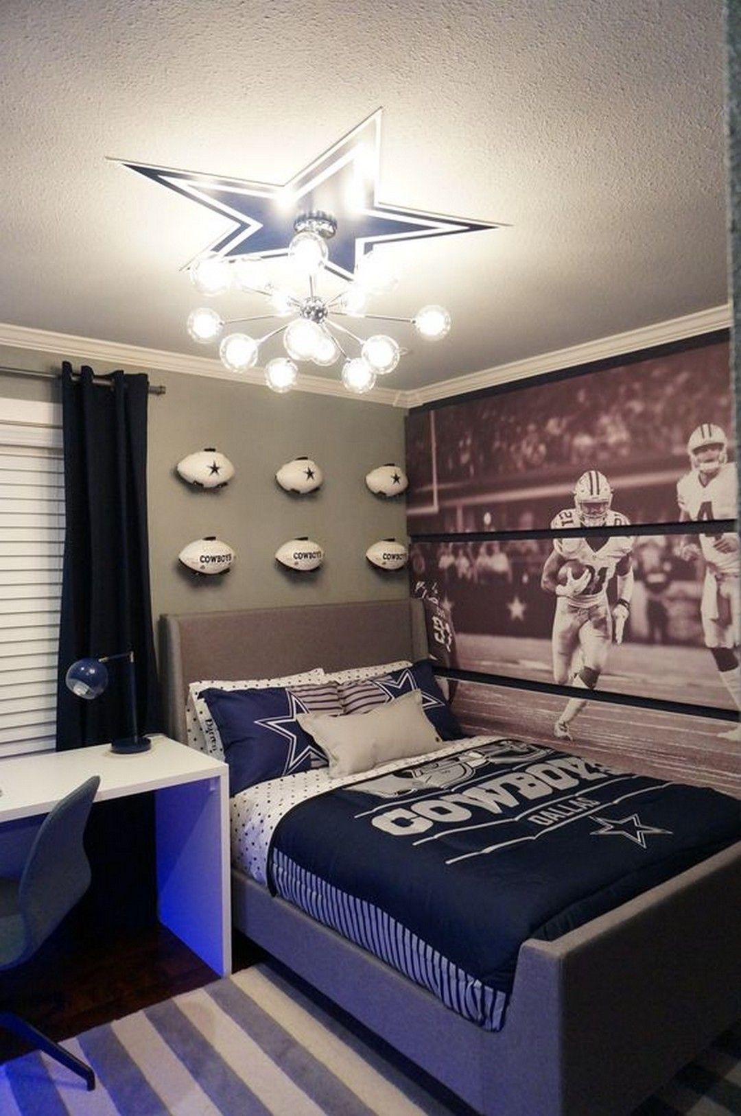 Hockey Bedroom Decor Canada: Lovely Dallas Cowboys Theme Bedroom Ideas For The Big Fans