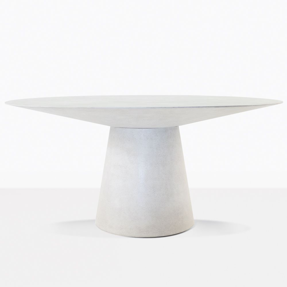 Holly Outdoor Dining Table Has Great Form In This Round Design Is So Chic Black Pair The Concrete With Some Of Our Modern Wicker