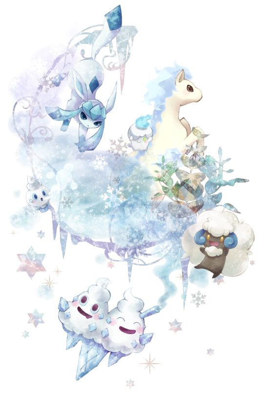 Pokemon Kleurplaten Glaceon.Glaceon Litwick Ponyta Vanillish Vanilluxe Whimsicott