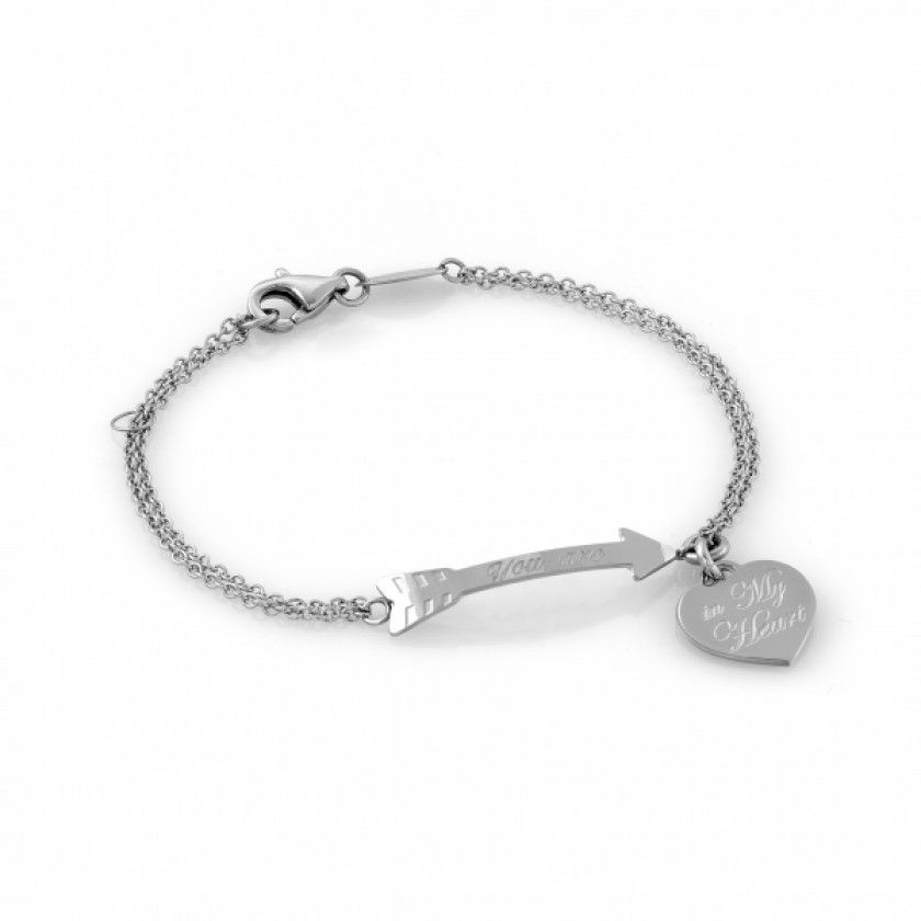 Bracelet with Heart and Arrow in Stainless Steel - Nomination Italy #nominationitaly #bracelet