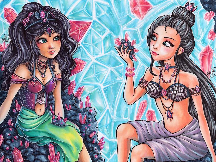 Line Art By Baylee Jae : Jewel sisters collaboration by baylee jae viantart
