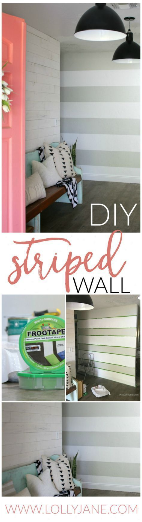 DIY Striped Accent Wall - With Gray & White Stripes #graystripedwalls DIY Striped Accent Wall | I love this gray and white striped wall, such an easy tutorial on how to stripe walls with straight lines and no bleeding or touch ups! Adore this gray white home decor, such a cute accent wall! #graystripedwalls DIY Striped Accent Wall - With Gray & White Stripes #graystripedwalls DIY Striped Accent Wall | I love this gray and white striped wall, such an easy tutorial on how to stripe walls with stra #graystripedwalls