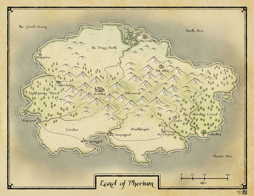 Map of a fantasy RPG setting  | Fantasy Worlds and Maps