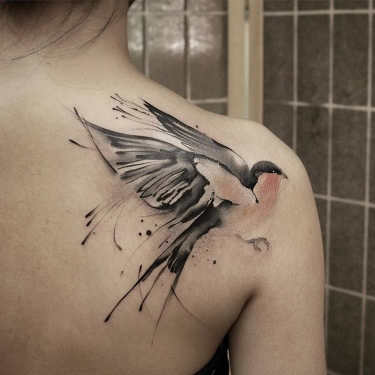 60 Stunning Watercolor Tattoos By Chen Jie Watercolor Tattoo
