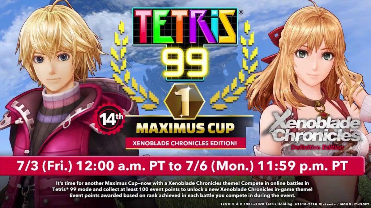 Tetris 99 14th MAXIMUS CUP 3 Juli Nintendo Switch