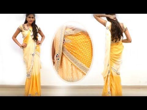 half saree wearing styles