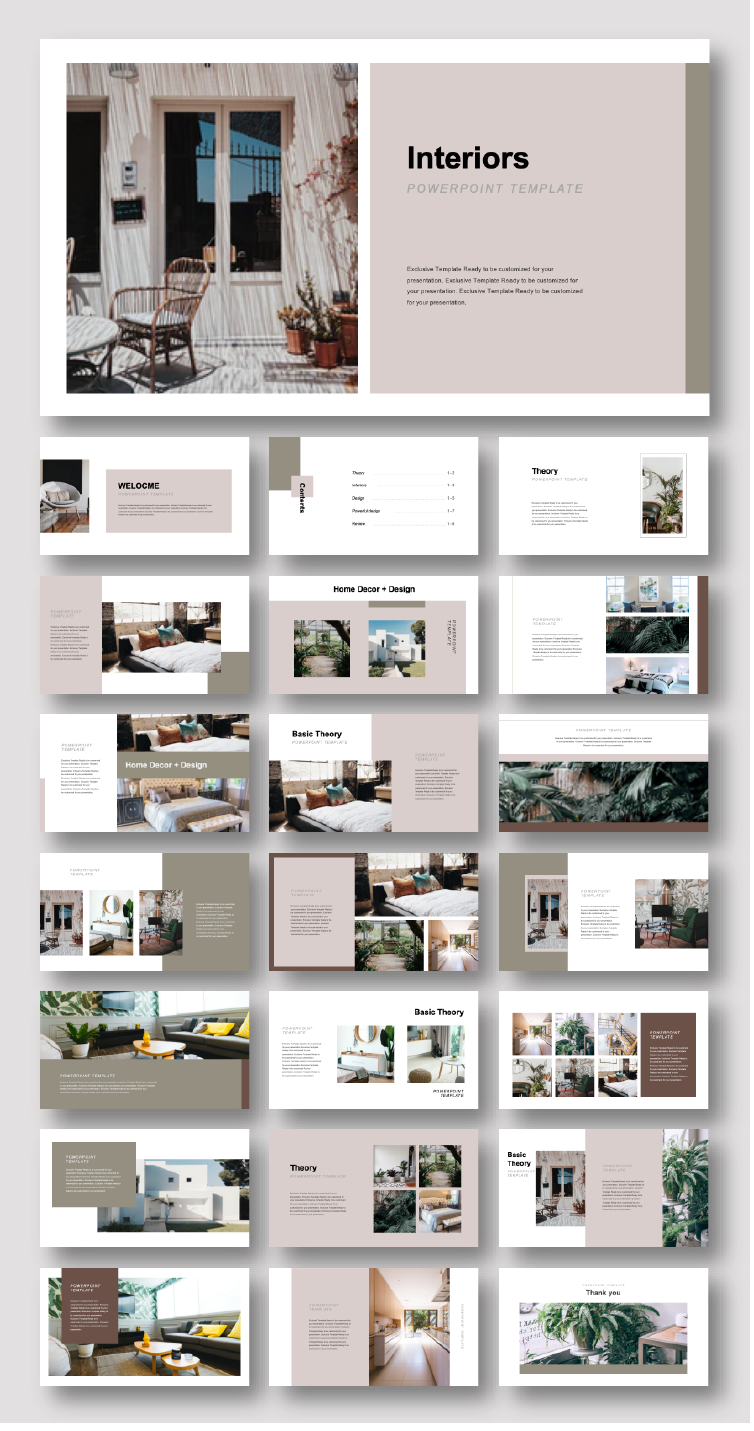 Creative Interiors Design Presentation Template Interior Design