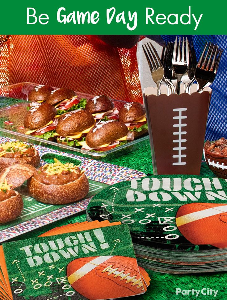 Are You Ready For Some Football If You're Hosting Game Day Fascinating Party City Super Bowl Decorations