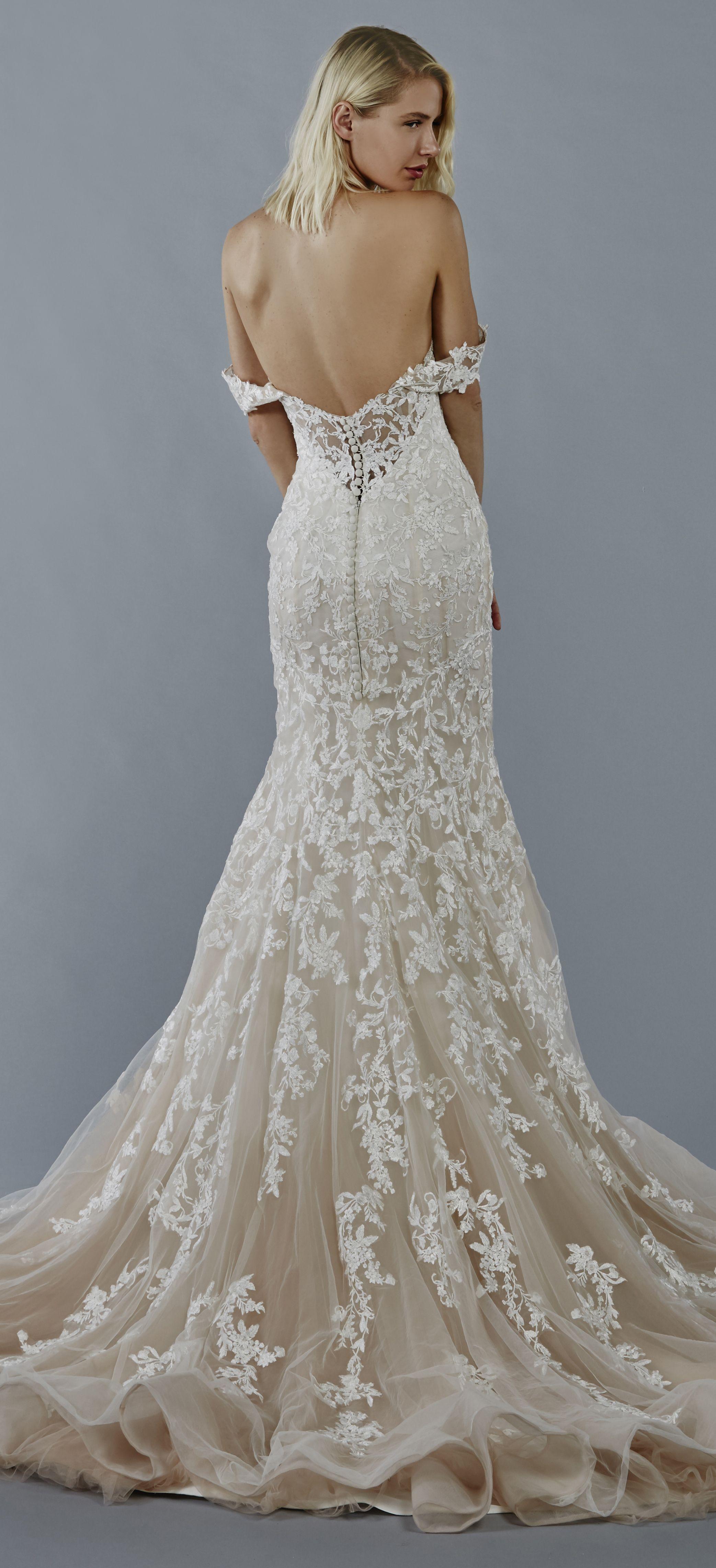Luna wedding dress by kelly faetanini in blush ombre blush fit to