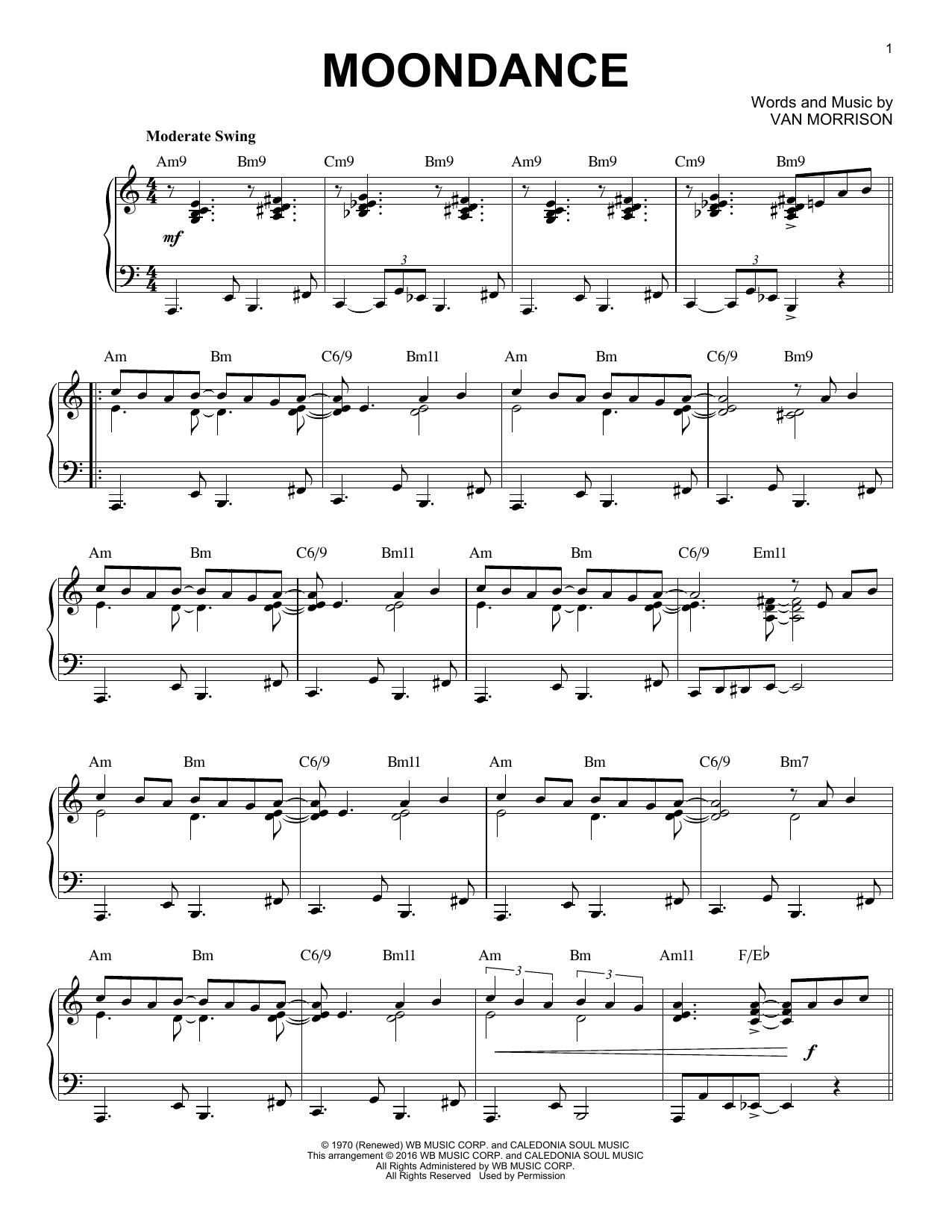 Moondance Van Morrison Piano Pinterest Van Morrison Sheet