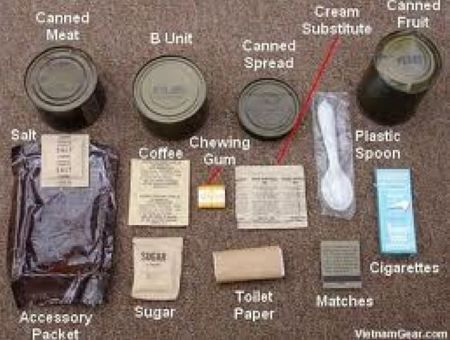 Image result for what did a vietnam war meal ready to eat look like