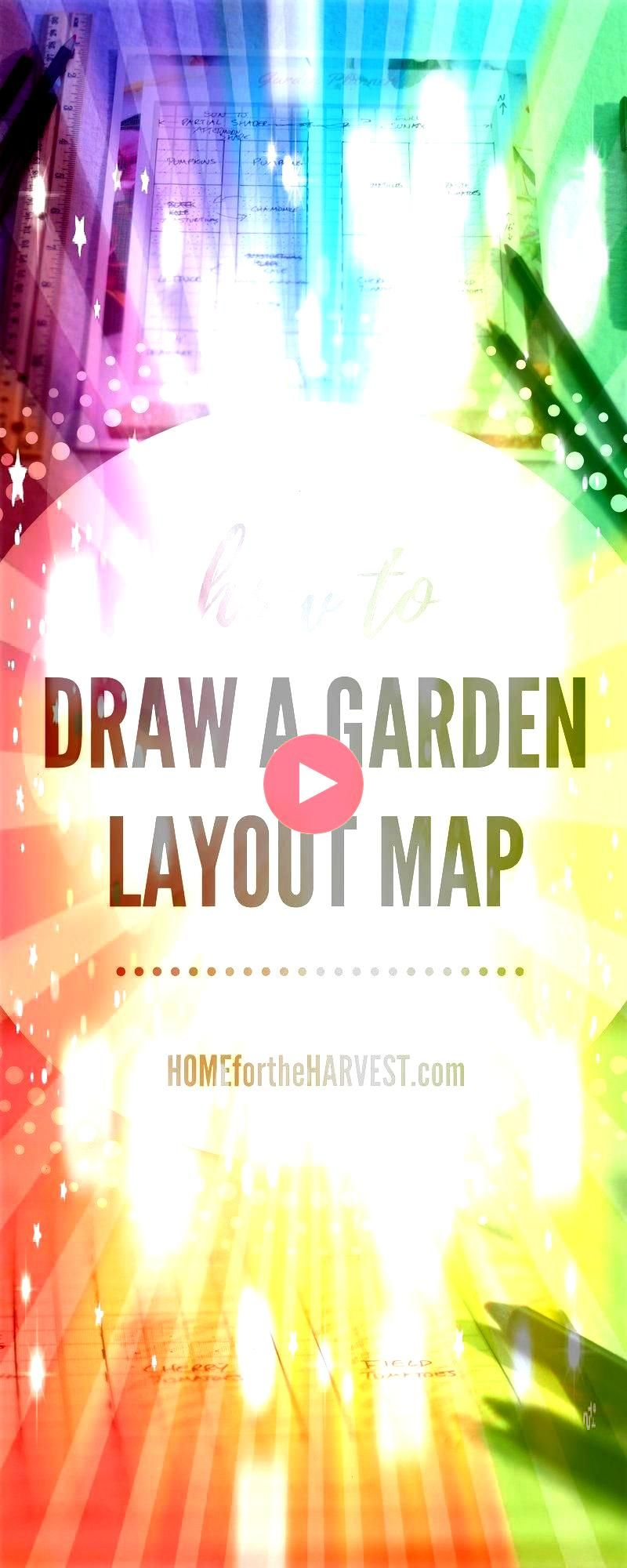 Draw a Garden Layout Map  Home for the HarvestHow to Draw a Garden Layout Map  Home for the Harvest Free Garden Plan Printable Planner Seed Order Seed Inventory Square Fo...