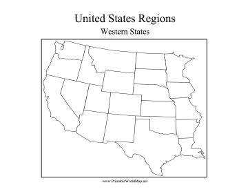 blank western us map - Ukran.soochi.co