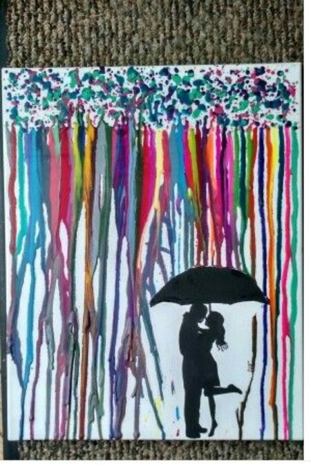 how to make melted crayon art with silhouette