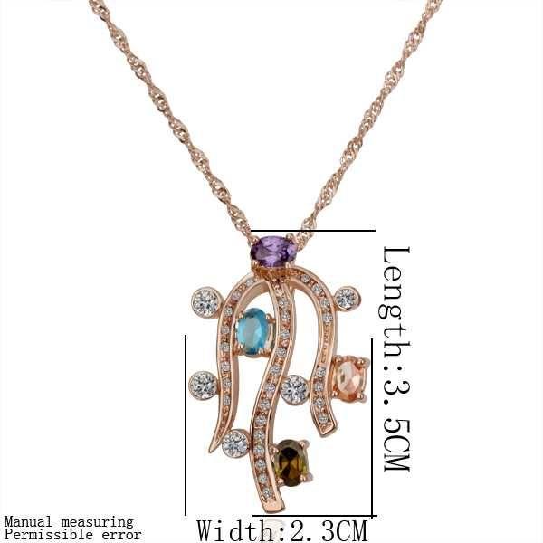 Купить 18 K GP позолота ювелирные изделия ожерелье модное горный хрусталь…