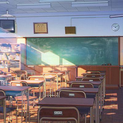 Freelance Cg Artist Anime Classroom Anime Backgrounds Wallpapers Anime Scenery Wallpaper