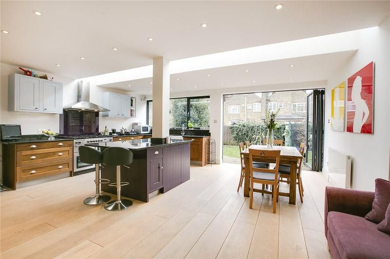 Küchen adrian ~ Kitchen extension in east sheen with a long slot rooflight between