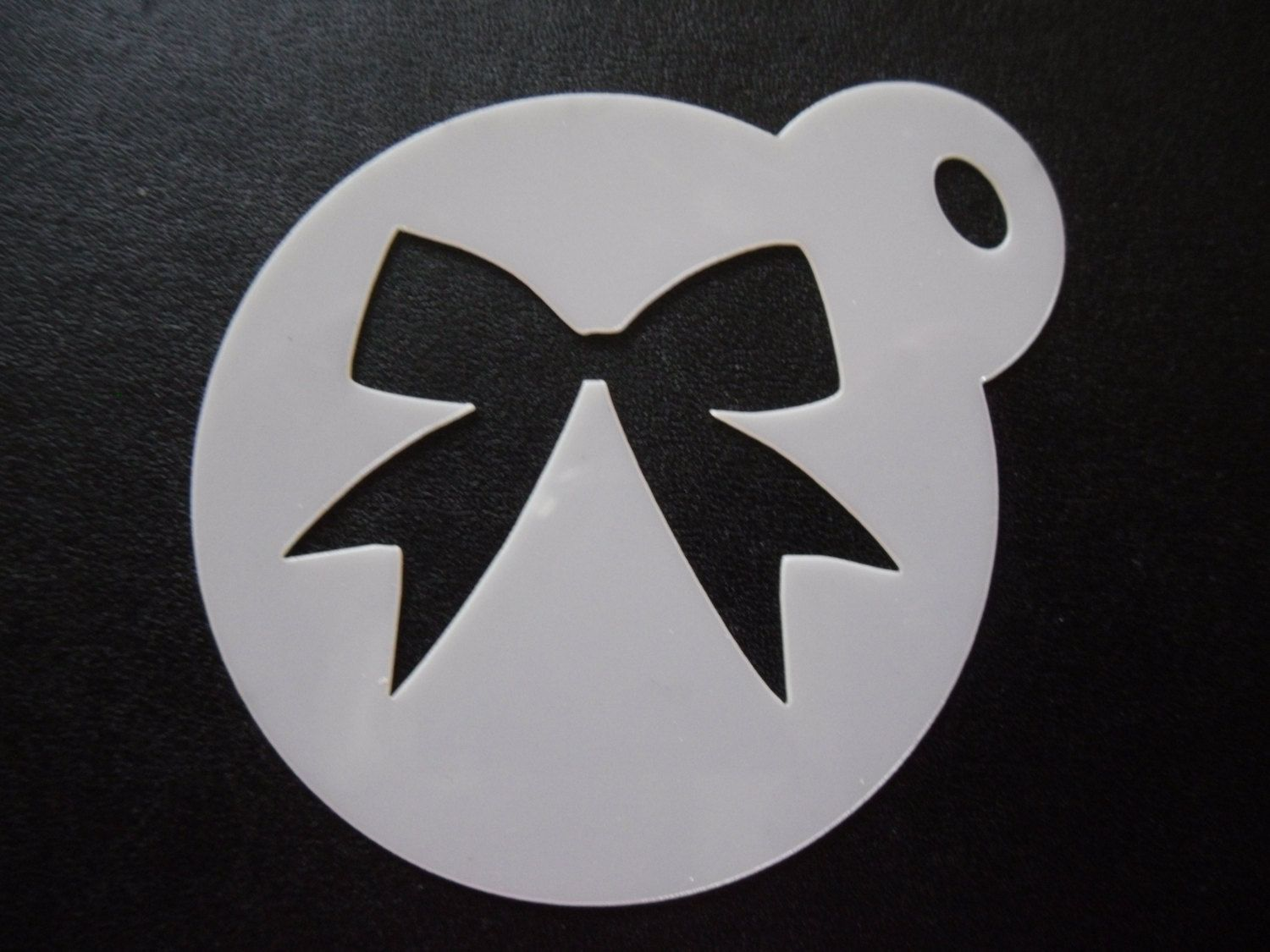 Unique bespoke new laser cut new bow cookie / face painting stencil ...