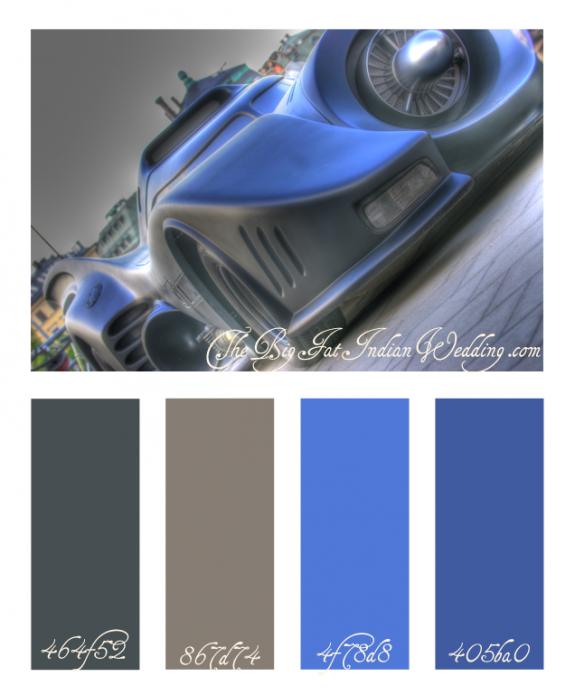 batmobile blue color palette