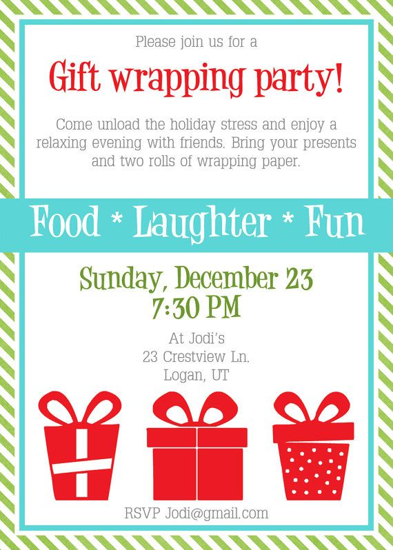 printable gift wrapping party invitation by ... - photo #26