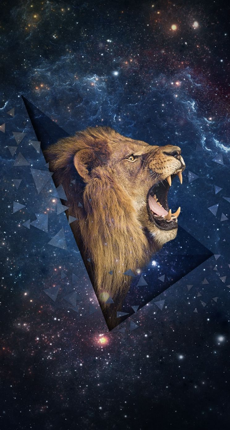 Iphone wallpaper tumblr lion - Outer Space Shouting Lion Iphone Wallpaper