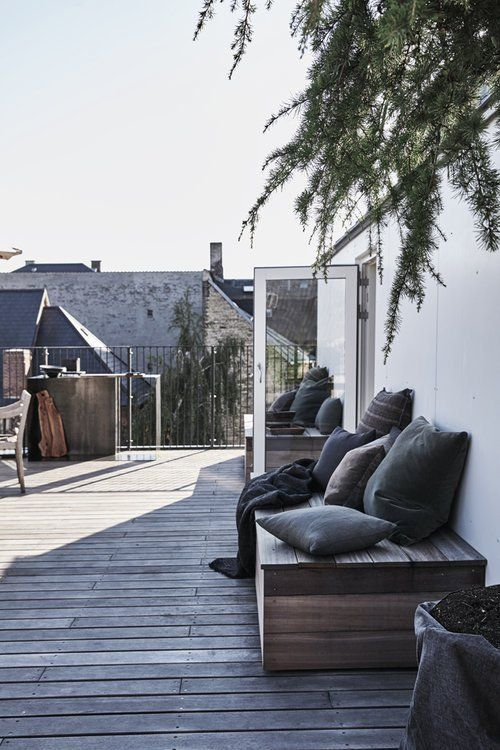 A private rooftop terrace in Copenhagen #rooftopterrace
