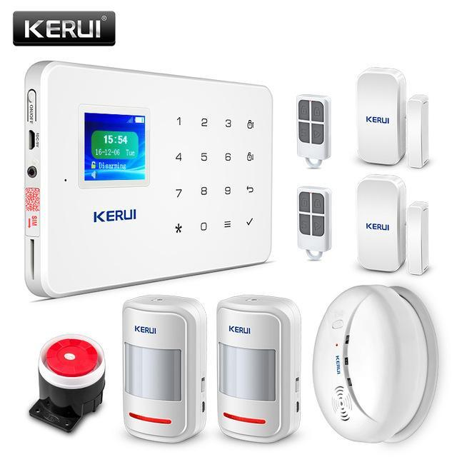 Kerui G18 Wireless Home Gsm Security Alarm System Diy Kit App Control With Auto Dial Moti Home Security Alarm System Home Security Alarm Wireless Home Security