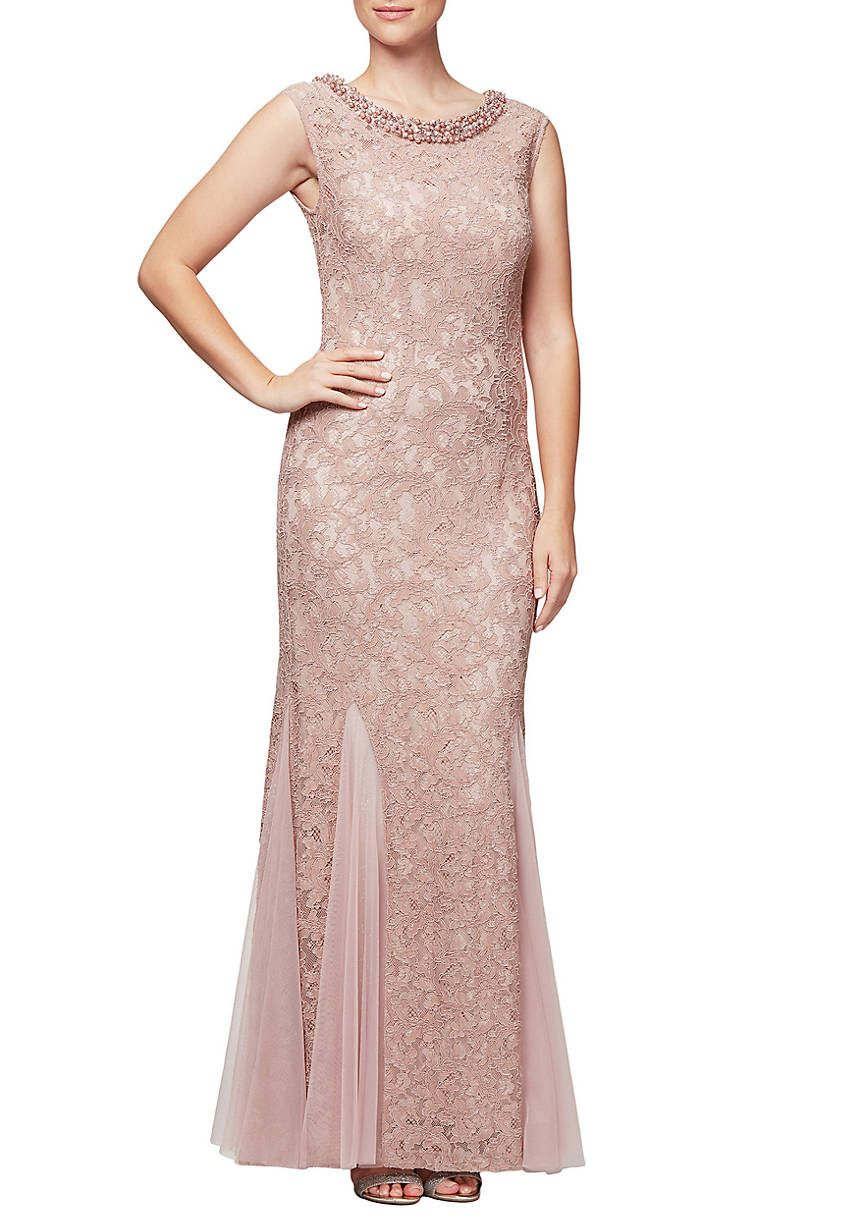 d410b77d24 Alex Evenings Cap Sleeve Fit and Flare Gown | Skirting | Bridesmaid ...