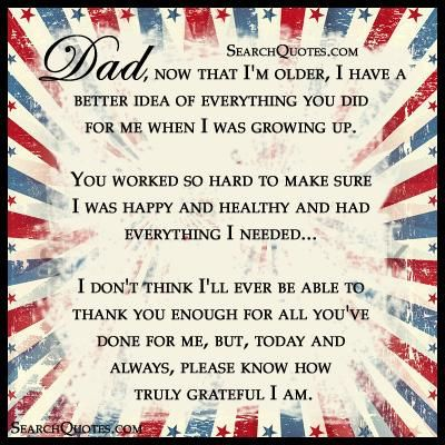 Dad, love you!