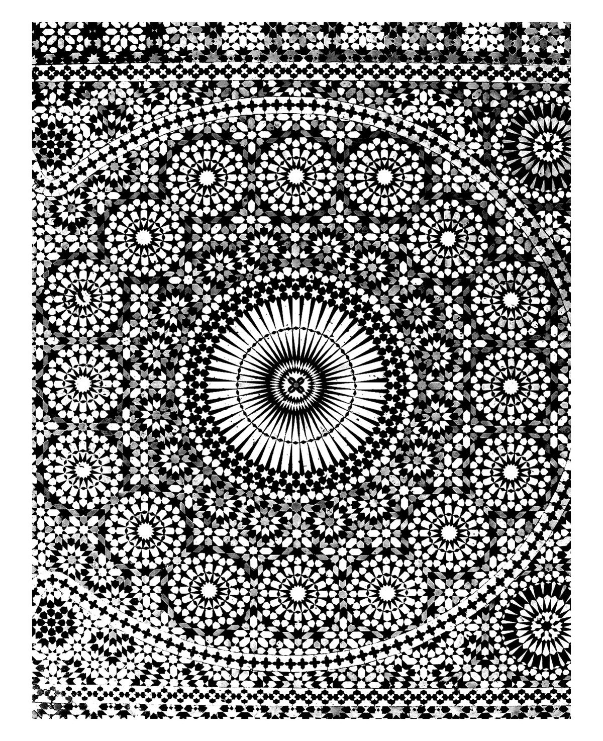 to print this free coloring page coloring oriental mosaique