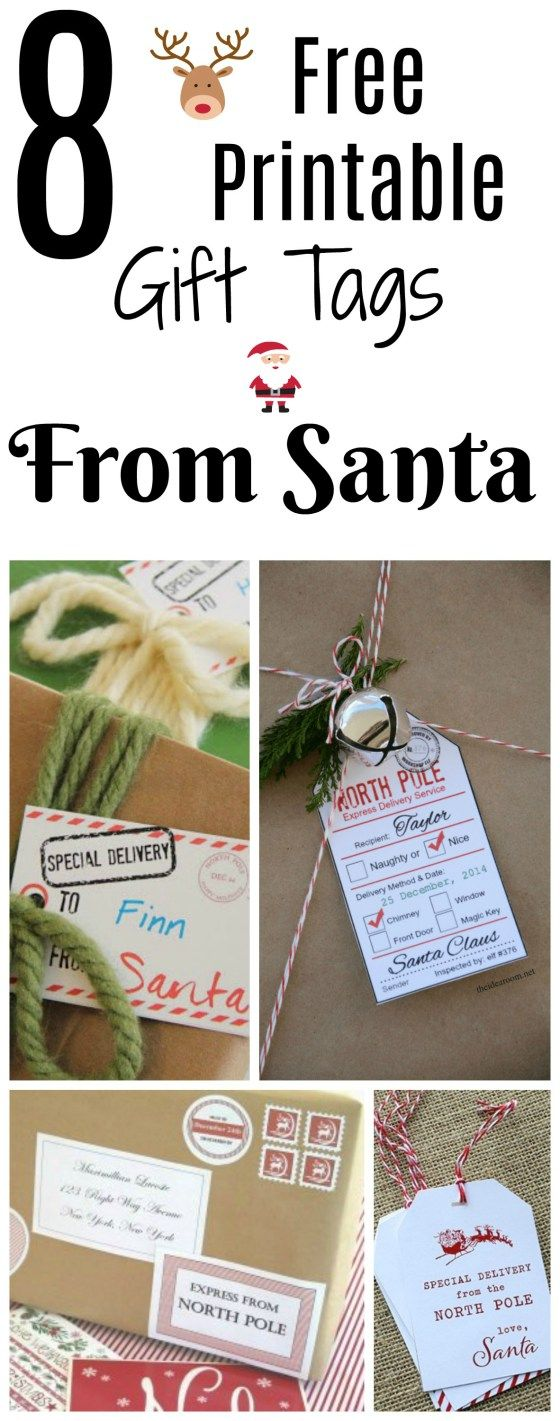Free printable santa gift tags from the north pole santa free printable santa gift tags from the north pole santa santagifttags fromsanta negle