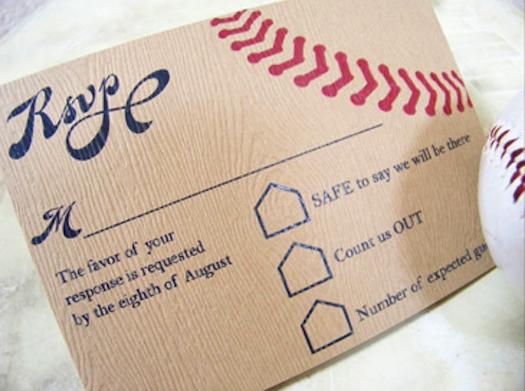 Baseball Wedding Invitation: Baseball Decor Elements » Alexan