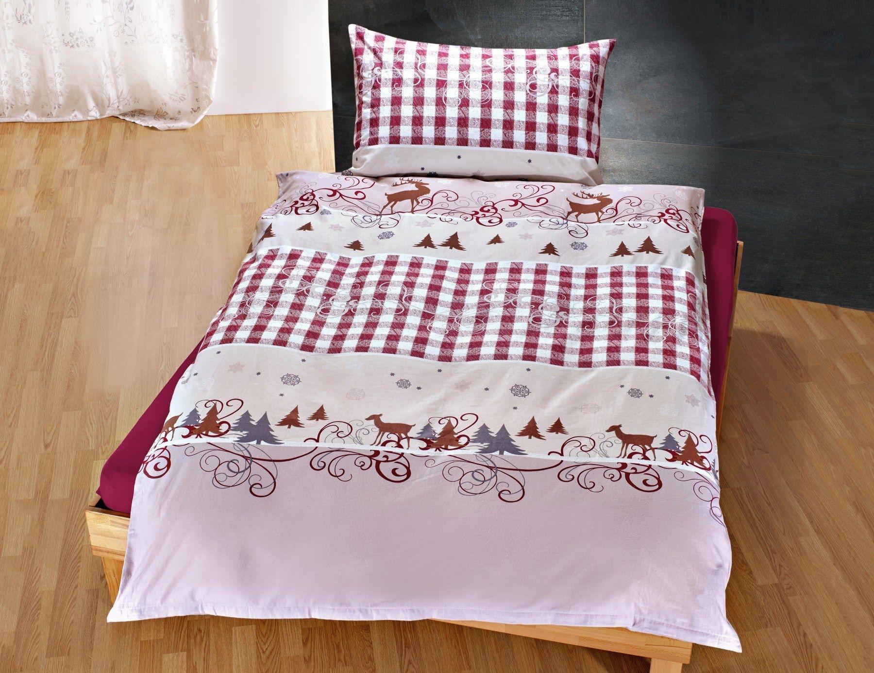 Bettwasche Winter Motiv Mit Karo Bettwasche Bett Motive