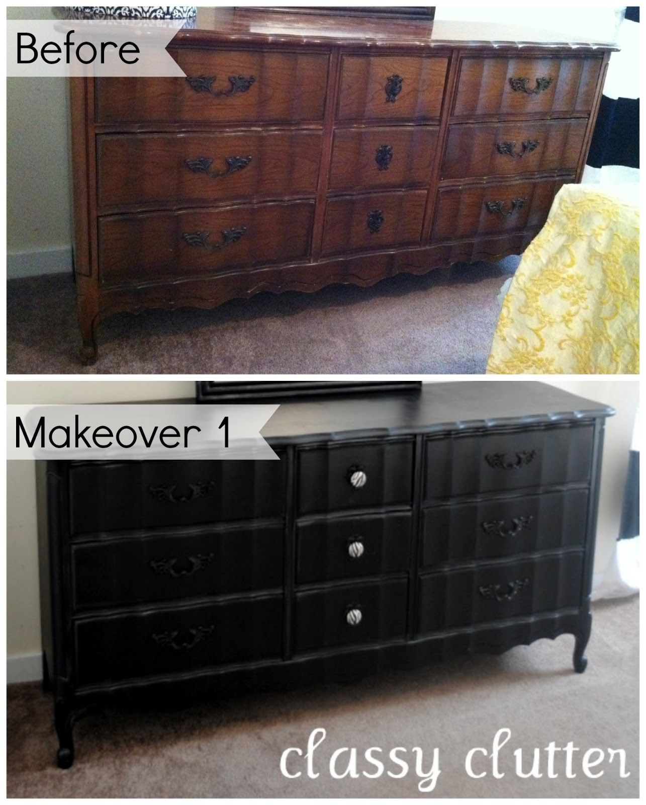 DIY Chalk Paint Recipe and a Dresser Makeover | Chalk paint, chats ...