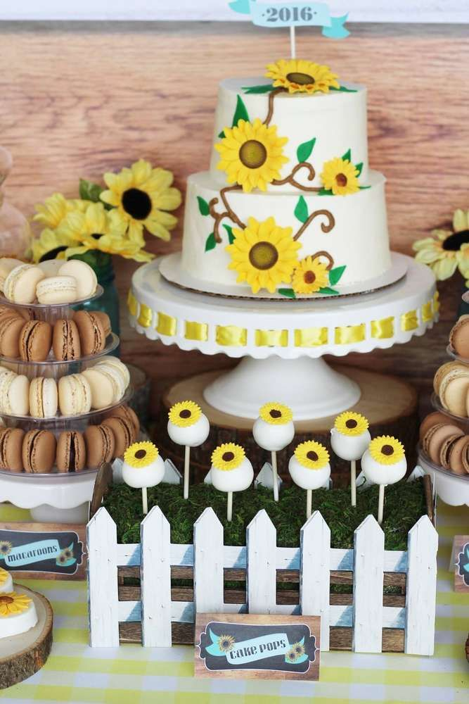Rustic Sunflower Graduation Party Desserts See More Planning Ideas At CatchMyParty