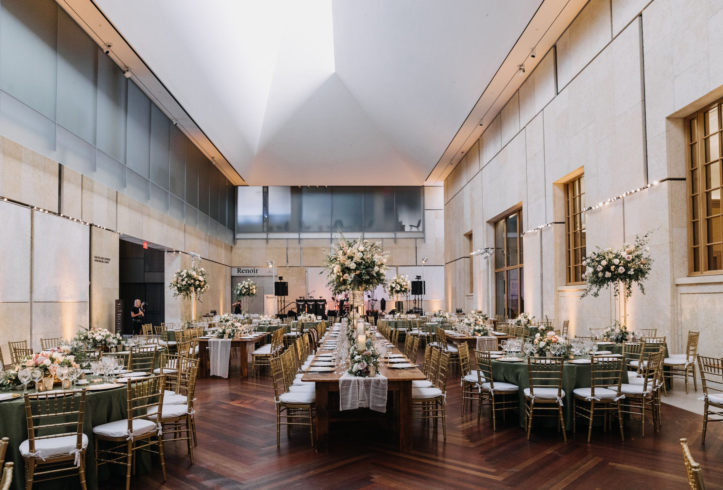 Tyler Mike Barnes Foundation Table Decorations Wedding