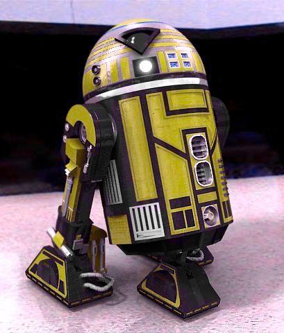 Astromech Droid Yellow On Black Paint Job Star Wars Droids Star Wars Images Star Wars Collection